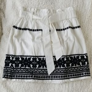 TopShop white & black with embroidering